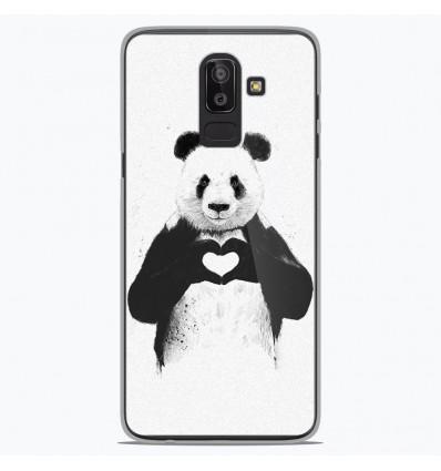 Coque en silicone Samsung Galaxy J8 2018 - BS Love Panda