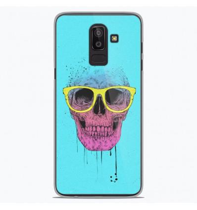 Coque en silicone Samsung Galaxy J8 2018 - BS Skull glasses