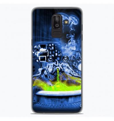 Coque en silicone Samsung Galaxy J8 2018 - Fontaine