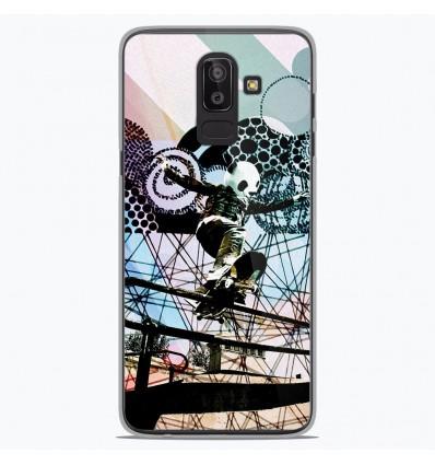 Coque en silicone Samsung Galaxy J8 2018 - Panda skater