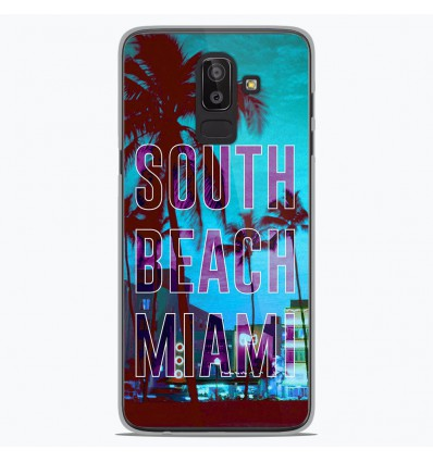 Coque en silicone Samsung Galaxy J8 2018 - South beach miami