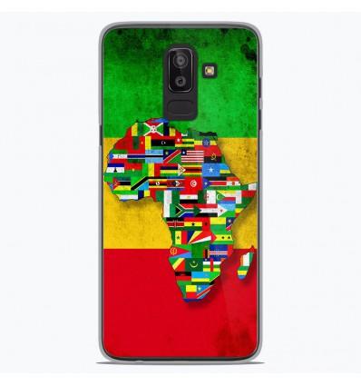 Coque en silicone Samsung Galaxy J8 2018 - Drapeau Africa Unite