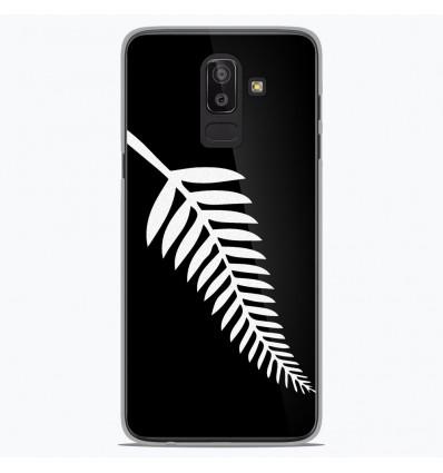 Coque en silicone Samsung Galaxy J8 2018 - Drapeau All-black