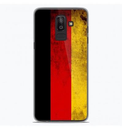 Coque en silicone Samsung Galaxy J8 2018 - Drapeau Allemagne