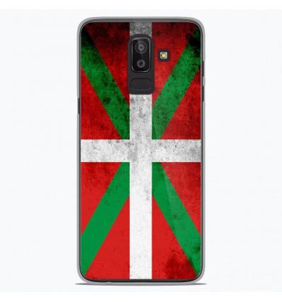 Coque en silicone Samsung Galaxy J8 2018 - Drapeau Basque