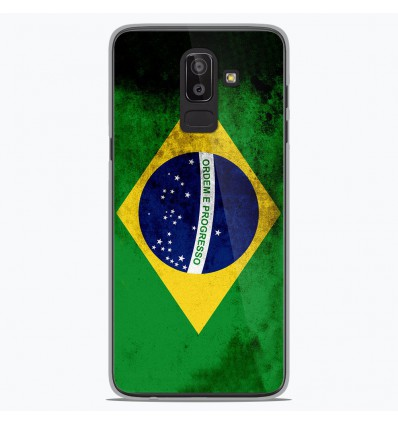 Coque en silicone Samsung Galaxy J8 2018 - Drapeau Brésil