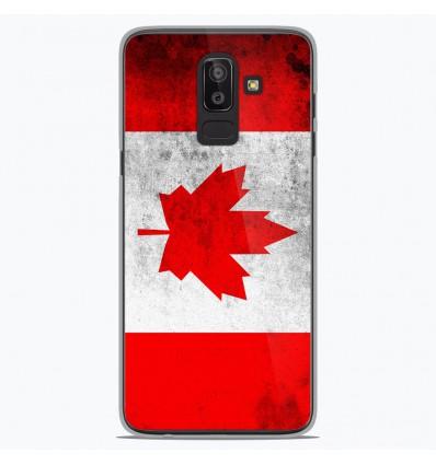 Coque en silicone pour Samsung Galaxy J8 2018 - Drapeau Canada