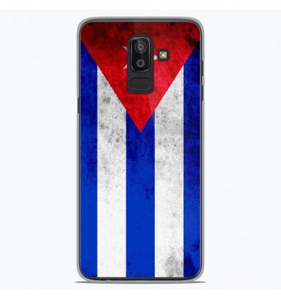 Coque en silicone Samsung Galaxy J8 2018 - Drapeau Cuba