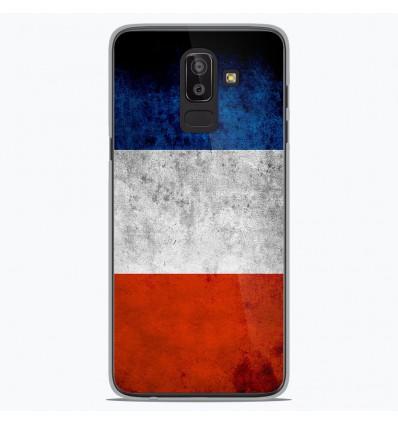 Coque en silicone Samsung Galaxy J8 2018 - Drapeau France