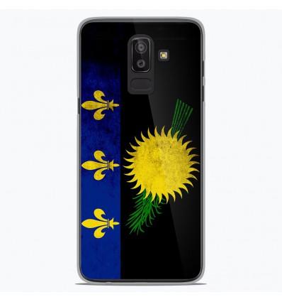Coque en silicone Samsung Galaxy J8 2018 - Drapeau Guadeloupe
