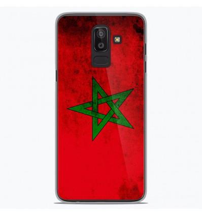 Coque en silicone Samsung Galaxy J8 2018 - Drapeau Maroc