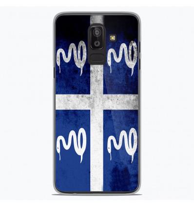Coque en silicone Samsung Galaxy J8 2018 - Drapeau Martinique