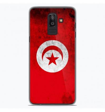 Coque en silicone Samsung Galaxy J8 2018 - Drapeau Tunisie