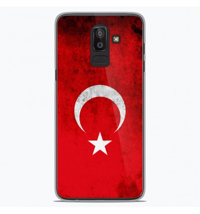 Coque en silicone Samsung Galaxy J8 2018 - Drapeau Turquie