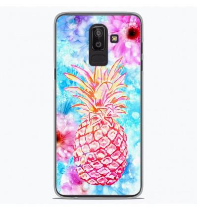 Coque en silicone Samsung Galaxy J8 2018 - Ananas