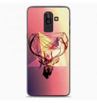 Coque en silicone Samsung Galaxy J8 2018 - Cerf Hipster