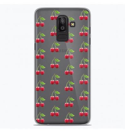 Coque en silicone Samsung Galaxy J8 2018 - Cerises Gris