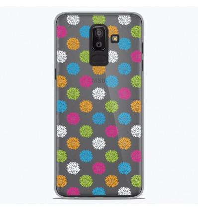 Coque en silicone Samsung Galaxy J8 2018 - Floral