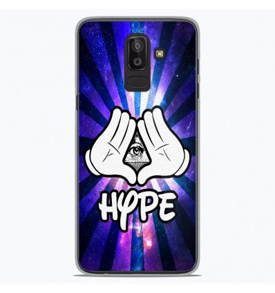 Coque en silicone Samsung Galaxy J8 2018 - Hype Illuminati