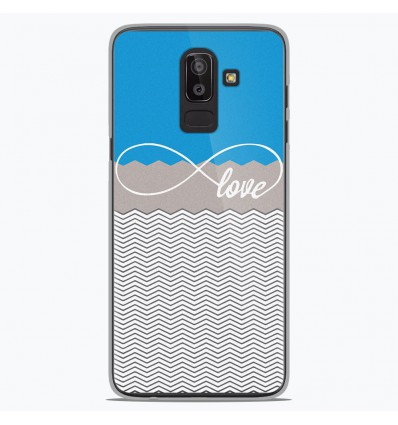 Coque en silicone Samsung Galaxy J8 2018 - Love Bleu