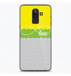 Coque en silicone Samsung Galaxy J8 2018 - Love Jaune