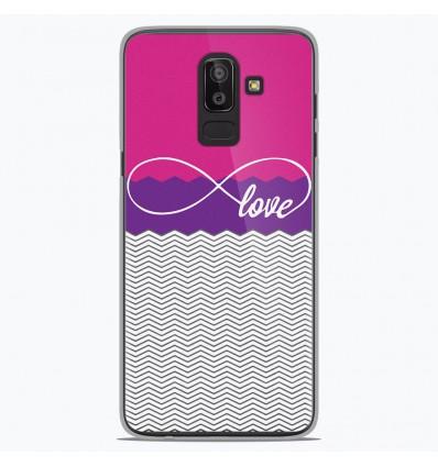 Coque en silicone Samsung Galaxy J8 2018 - Love Rose