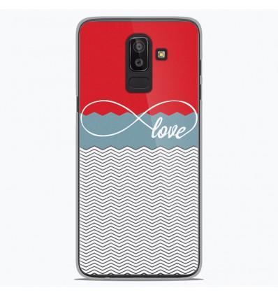 Coque en silicone Samsung Galaxy J8 2018 - Love Rouge