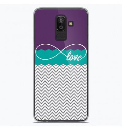 Coque en silicone Samsung Galaxy J8 2018 - Love Violet