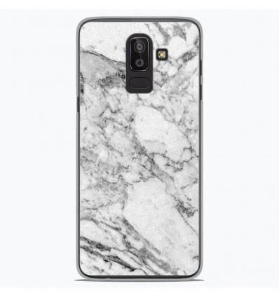 Coque en silicone Samsung Galaxy J8 2018 - Marbre Blanc