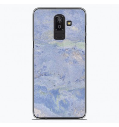 Coque en silicone Samsung Galaxy J8 2018 - Marbre Bleu