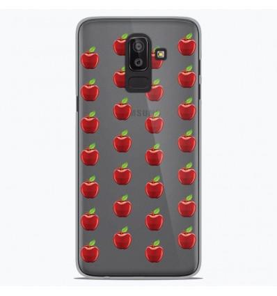 Coque en silicone Samsung Galaxy J8 2018 - Pommes Gris