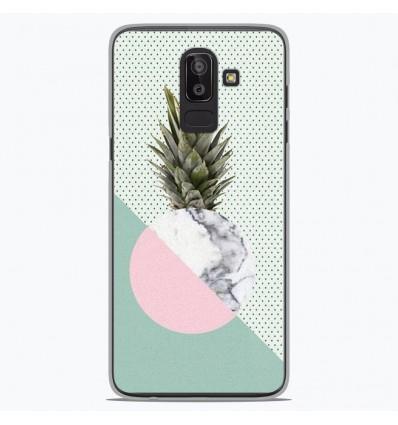 Coque en silicone pour Samsung Galaxy J8 2018 - Ananas marbre