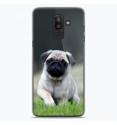 Coque en silicone Samsung Galaxy J8 2018 - Bulldog français
