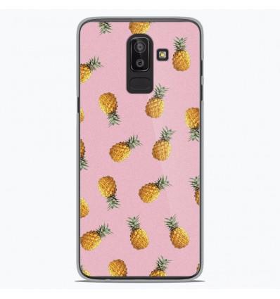 Coque en silicone Samsung Galaxy J8 2018 - Pluie d'ananas
