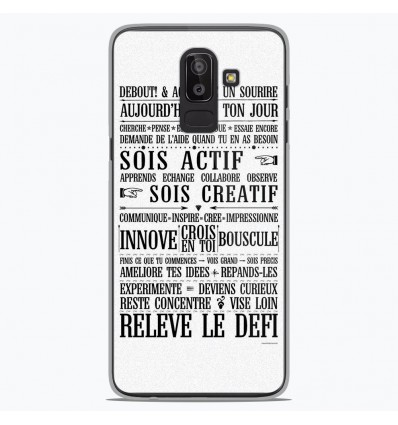 Coque en silicone Samsung Galaxy J8 2018 - Citation 11
