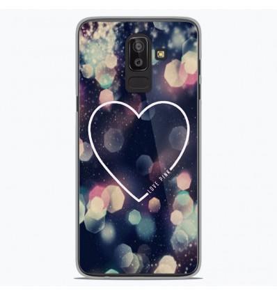 Coque en silicone Samsung Galaxy J8 2018 - Coeur Love