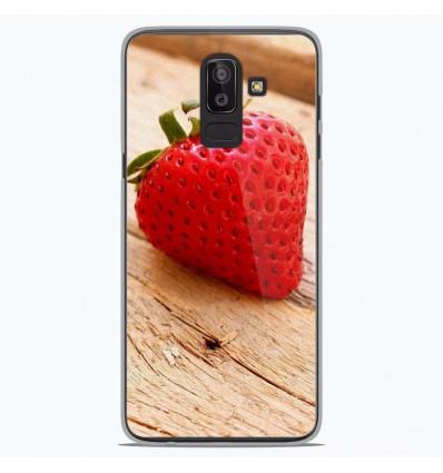 Coque en silicone Samsung Galaxy J8 2018 - Envie d'une fraise