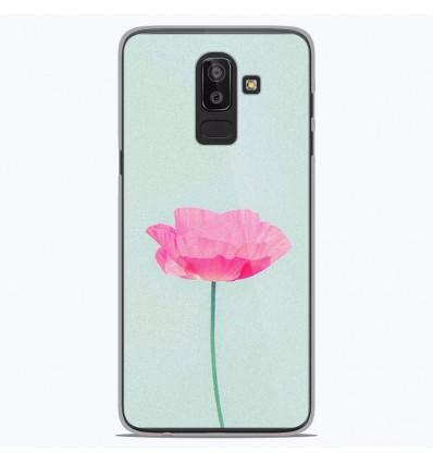 Coque en silicone Samsung Galaxy J8 2018 - Fleur Rose