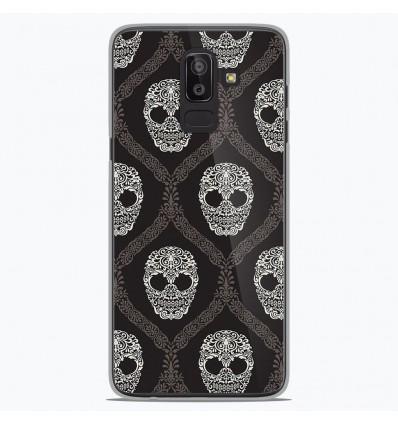 Coque en silicone Samsung Galaxy J8 2018 - Floral skull