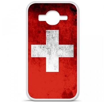 Coque en silicone pour Samsung Galaxy Core Prime / Core Prime VE - Drapeau Suisse
