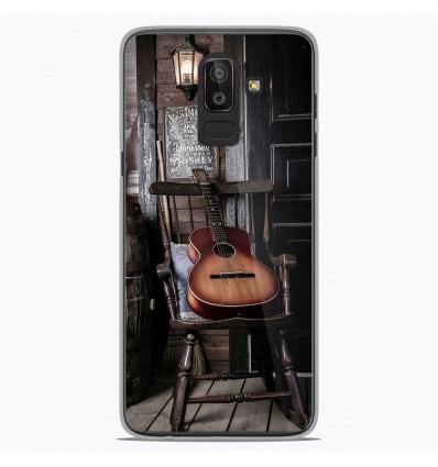 Coque en silicone Samsung Galaxy J8 2018 - Guitare