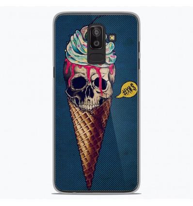 Coque en silicone Samsung Galaxy J8 2018 - Ice cream skull blue