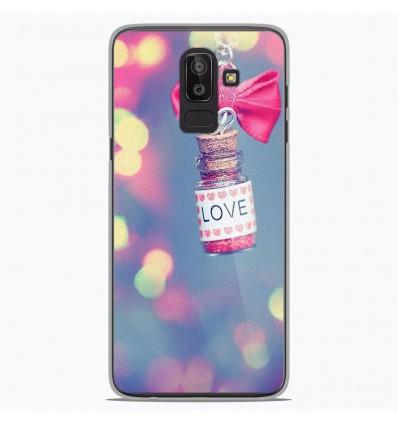 Coque en silicone Samsung Galaxy J8 2018 - Love noeud rose