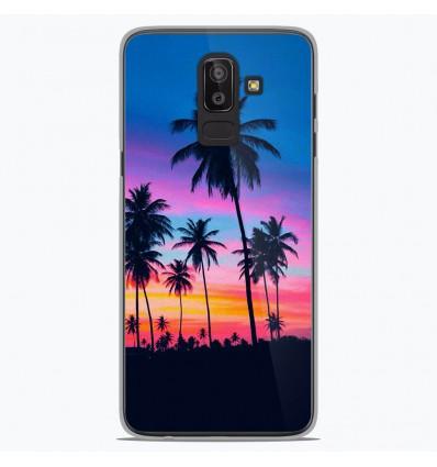 Coque en silicone Samsung Galaxy J8 2018 - Palmiers colorés