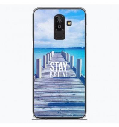 Coque en silicone Samsung Galaxy J8 2018 - Stay positive