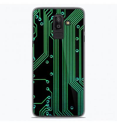 Coque en silicone Samsung Galaxy J8 2018 - Texture circuit geek