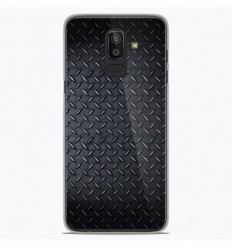 Coque en silicone Samsung Galaxy J8 2018 - Texture metal