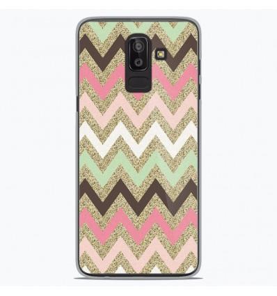 Coque en silicone Samsung Galaxy J8 2018 - Texture rose