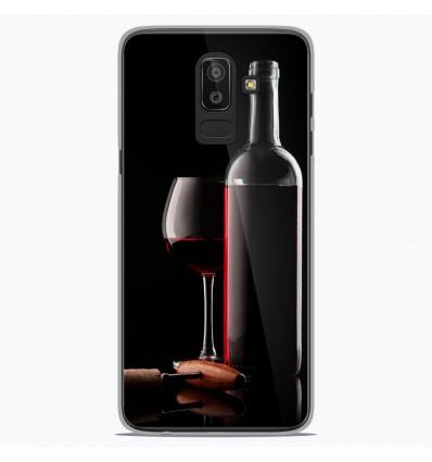 Coque en silicone Samsung Galaxy J8 2018 - Vin