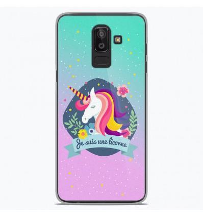 Coque en silicone Samsung Galaxy J8 2018 - Je suis une licorne